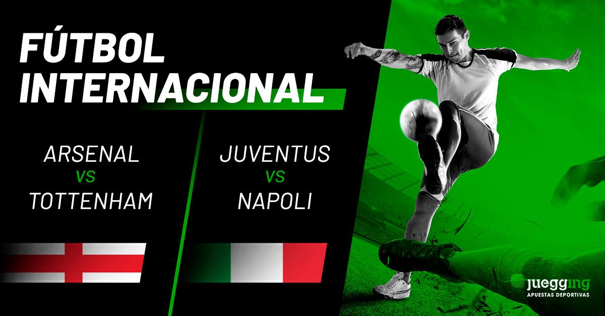 Fútbol Internacional: Arsenal-Tottenham y Juventus-Napoli